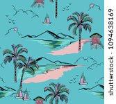 trendy  hawaiian in sweet color ... | Shutterstock .eps vector #1094638169
