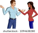vector illustration of an angry ... | Shutterstock .eps vector #1094638280