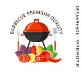 barbecue  finest beef. barbecue ... | Shutterstock .eps vector #1094644550