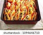 stuffed big pasta shells with... | Shutterstock . vector #1094646710