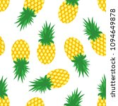 pineapples and slices of... | Shutterstock .eps vector #1094649878