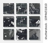 collection of monochrome... | Shutterstock .eps vector #1094651810