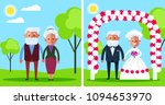 happy smiling grandparents... | Shutterstock .eps vector #1094653970