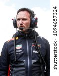 Small photo of Barcelona, Spain. May 13, 2018. Grand Prix of Spain. F1 World Championship 2018. Christian Horner, team principal Red Bull.