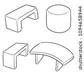 vector set of bench | Shutterstock .eps vector #1094658944
