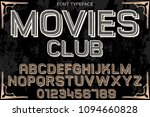 font handcrafted typeface...   Shutterstock .eps vector #1094660828