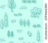 cute children's seamless... | Shutterstock .eps vector #1094666384