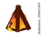 abtract nature campfire | Shutterstock .eps vector #1094671424