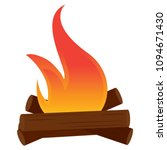 abtract nature campfire | Shutterstock .eps vector #1094671430