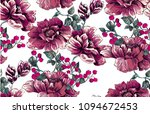 flower pattern with peony with... | Shutterstock .eps vector #1094672453