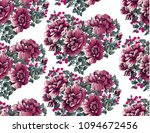 flower pattern with peony... | Shutterstock .eps vector #1094672456