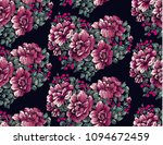 flower pattern with peony... | Shutterstock .eps vector #1094672459