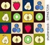 vector seamless pattern of fruit | Shutterstock .eps vector #109467254