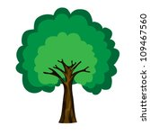 cartoon tree isolated on white... | Shutterstock .eps vector #109467560