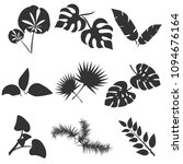 tropical leaves silhouettes...   Shutterstock .eps vector #1094676164