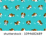 vector cartoon character beagle ... | Shutterstock .eps vector #1094682689