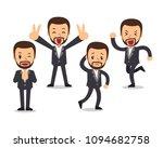 set of vector cartoon... | Shutterstock .eps vector #1094682758