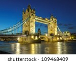 bridge at night  london  uk | Shutterstock . vector #109468409