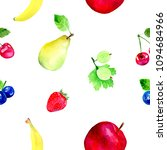watercolor illustrated seamless ... | Shutterstock . vector #1094684966