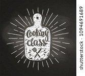 cutting board chalk silhoutte... | Shutterstock .eps vector #1094691689