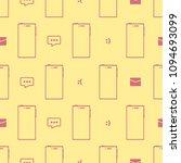 pink contours of flat... | Shutterstock .eps vector #1094693099