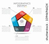 infographic template. vector...   Shutterstock .eps vector #1094696624