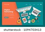 mock up design website flat... | Shutterstock .eps vector #1094703413
