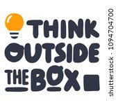 think outside the box.... | Shutterstock .eps vector #1094704700