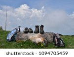 hiking boots  shoes and... | Shutterstock . vector #1094705459