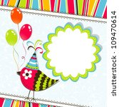 template greeting card  vector... | Shutterstock .eps vector #109470614