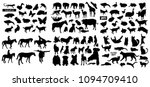 black animals silhouettes... | Shutterstock .eps vector #1094709410