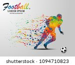 visual drawing soccer sport at... | Shutterstock .eps vector #1094710823