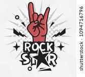 rock star live to rock vector... | Shutterstock .eps vector #1094716796