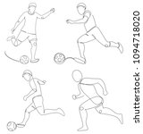 soccer player with a ball... | Shutterstock .eps vector #1094718020