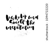 positive quote hand lettering | Shutterstock .eps vector #1094722220