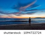 silhouette woman standing at... | Shutterstock . vector #1094722724