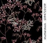 blooming grass watercolor on... | Shutterstock . vector #1094723159