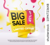 big sale bright banner design... | Shutterstock .eps vector #1094723648