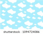 vector cloud background | Shutterstock .eps vector #1094724086