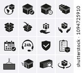 package delivery icons set.... | Shutterstock .eps vector #1094725910