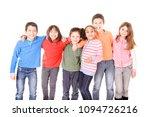 little kids  isolated in white... | Shutterstock . vector #1094726216