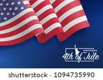 united states waving flag.... | Shutterstock .eps vector #1094735990