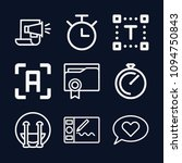 interface icon set   outline...   Shutterstock .eps vector #1094750843