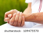 doctor holding hand of an... | Shutterstock . vector #109475570