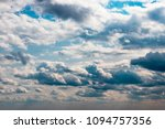 the texture of the cloudy sky. | Shutterstock . vector #1094757356