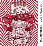 vector handwritten lettering...   Shutterstock .eps vector #1094762180