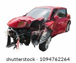 red car crash isolated.   Shutterstock . vector #1094762264
