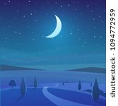 night time nature landscape in... | Shutterstock .eps vector #1094772959