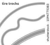 car wheel tire tracks on white... | Shutterstock .eps vector #1094775383