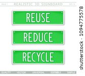 reuse. reduce. recycle. eco... | Shutterstock .eps vector #1094775578
